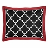 Red and Black Trellis Pillow Sham by Sweet Jojo Designs