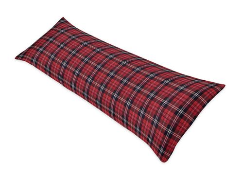 Red and Black Woodland Plaid Flannel Body Pillow Case Cover for Rustic Patch Collection by Sweet Jojo Designs (Pillow Not Included) - Click to enlarge