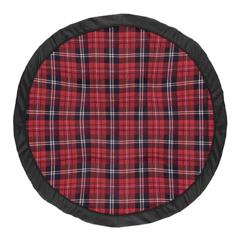 Red and Black Woodland Plaid Flannel Playmat Tummy Time Baby and Infant Play Mat for Rustic Patch Collection by Sweet Jojo Designs - Click to enlarge