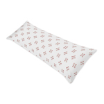 Red and White Body Pillow Case Cover for Baseball Patch Sports Collection by Sweet Jojo Designs (Pillow Not Included)