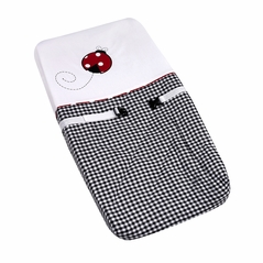 Red and White Ladybug Polka Dot Baby Girls Changing Pad Cover by Sweet Jojo Designs
