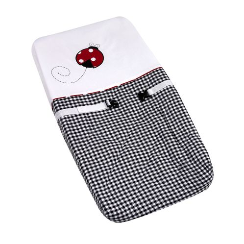 Red and White Ladybug Polka Dot Baby Girls Changing Pad Cover by Sweet Jojo Designs - Click to enlarge