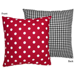 Red and White Ladybug Polka Dot Decorative Accent Throw Pillow by Sweet Jojo Designs
