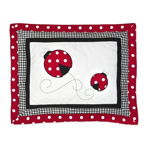 Red and White Ladybug Polka Dot Pillow Sham - Click to enlarge