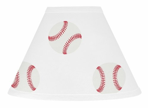 Red and White Lamp Shade for Baseball Patch Sports Collection by Sweet Jojo Designs - Click to enlarge
