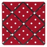 Red and White Polka Dot Ladybug Fabric Memory/Memo Photo Bulletin Board
