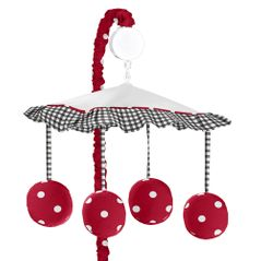 Red and White Polka Dot Ladybug Musical Crib Mobile by Sweet Jojo Designs