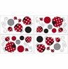 Red and White Polka Dot Little Ladybug Peel and Stick Wall Decal Stickers Art Nursery Decor by Sweet Jojo Designs - Set of 4 Sheets