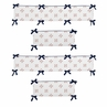 Red, White and Blue Baby Crib Bumper Pad for Baseball Patch Sports Collection by Sweet Jojo Designs