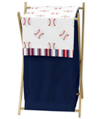 Red, White and Blue Baby Kid Clothes Laundry Hamper for Baseball Patch Sports Collection by Sweet Jojo Designs