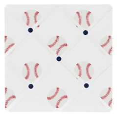 Red, White and Blue Fabric Memory Memo Photo Bulletin Board for Baseball Patch Sports Collection by Sweet Jojo Designs