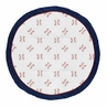 Red, White and Blue Playmat Tummy Time Baby and Infant Play Mat for Baseball Patch Sports Collection by Sweet Jojo Designs