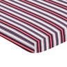 Red, White and Blue Stripe Baby Fitted Mini Portable Crib Sheet for Baseball Patch Sports Collection by Sweet Jojo Designs