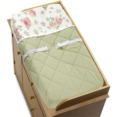 Riley's Roses Changing Pad Cover - Click to enlarge