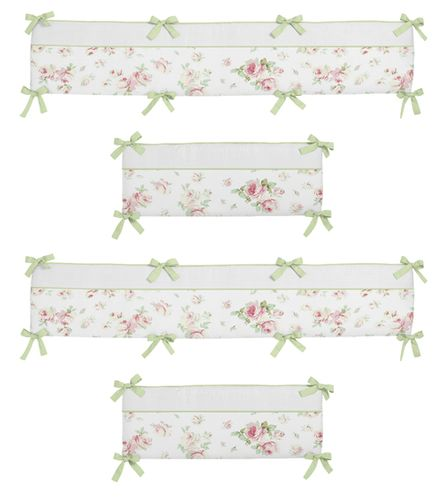 Riley's Roses Collection Crib Bumper by Sweet Jojo Designs - Click to enlarge