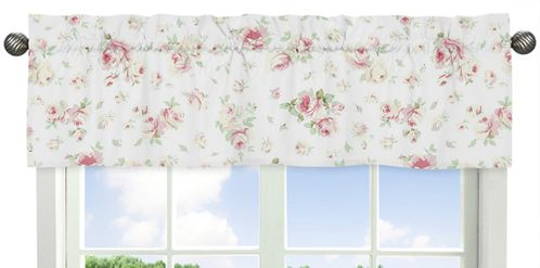 Riley's Roses Collection Window Valance by Sweet Jojo Designs - Click to enlarge