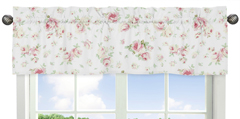 Riley's Roses Collection Window Valance by Sweet Jojo Designs