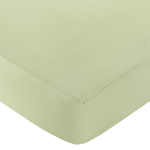 Riley's Roses Fitted Crib Sheet for Baby and Toddler Bedding Sets by Sweet Jojo Designs - Solid Green