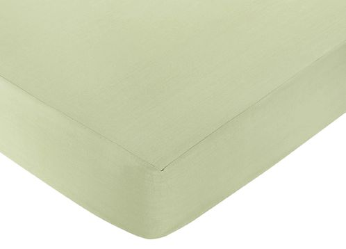 Riley's Roses Fitted Crib Sheet for Baby and Toddler Bedding Sets by Sweet Jojo Designs - Solid Green - Click to enlarge