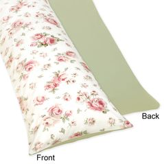 Riley's Roses Full Length Double Zippered Body Pillow Case Cover by Sweet Jojo Designs
