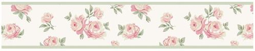 Riley's Roses Kids and Teens Wall Paper Border by Sweet Jojo Designs - Click to enlarge
