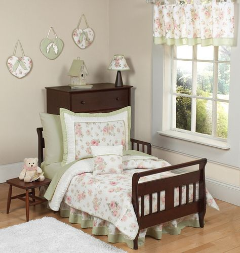 Riley's Roses Toddler Bedding - 5 pc set - Click to enlarge