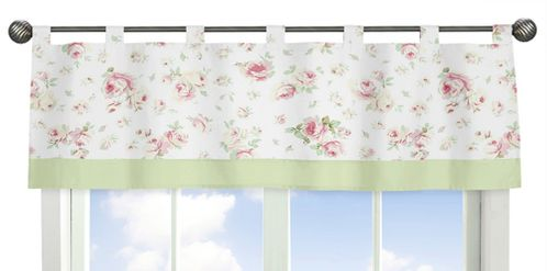 Riley's Roses Window Valance - Click to enlarge