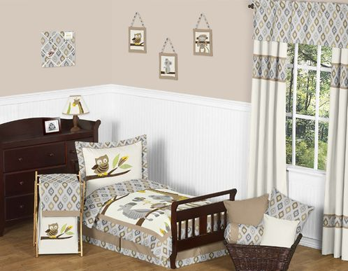 Safari Outback Jungle Toddler Bedding - 5pc Set by Sweet Jojo Designs - Click to enlarge