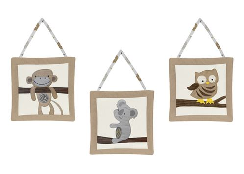Safari Outback Jungle Wall Hanging Accessories by Sweet Jojo Designs - Click to enlarge