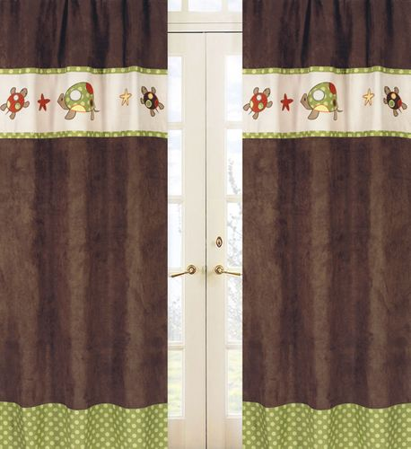 Sea Turtle Window Treatment Panels by Sweet Jojo Designs - Set of 2 - Click to enlarge