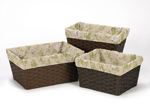 Set of 3 One Size Fits Most Basket Liners for Baby Annabel Bedding Sets