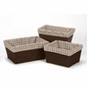 Set of 3 One Size Fits Most Basket Liners for Coordinating Bedding Sets by Sweet Jojo Designs