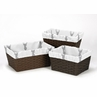 Set of 3 One Size Fits Most Basket Liners for Grey and White Woodland Deer Bedding Sets by Sweet Jojo Designs