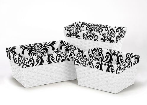 Set of 3 One Size Fits Most Basket Liners for Isabella Bedding Sets by Sweet Jojo Designs - Click to enlarge