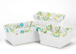 Set of 3 One Size Fits Most Basket Liners for Layla Bedding Sets
