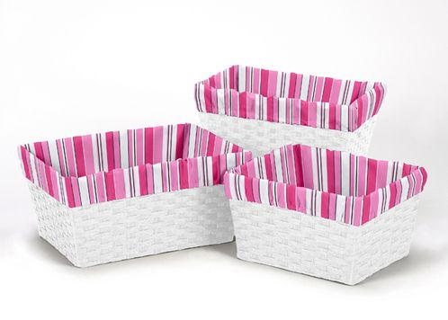 Set of 3 One Size Fits Most Basket Liners for Madison Bedding Sets by Sweet Jojo Designs - Click to enlarge