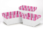 Set of 3 One Size Fits Most Basket Liners for Madison Bedding Sets by Sweet Jojo Designs