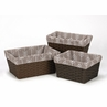 Set of 3 One Size Fits Most Basket Liners for Outdoor Adventure Bedding Sets