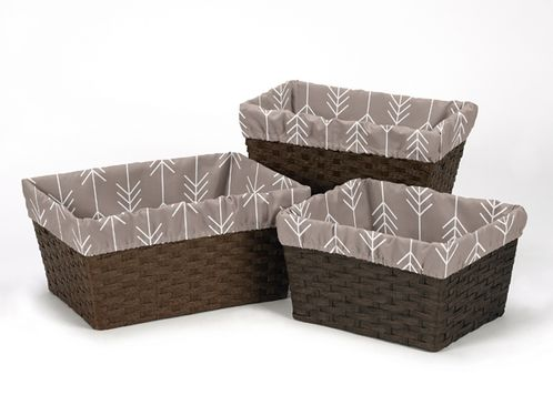 Set of 3 One Size Fits Most Basket Liners for Outdoor Adventure Bedding Sets - Click to enlarge