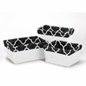 Set of 3 One Size Fits Most Basket Liners for Red and Black Trellis Bedding Sets