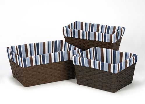 Set of 3 One Size Fits Most Basket Liners for Starry Night Bedding Sets - Click to enlarge