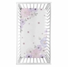 Shabby Chic Floral Girl Fitted Crib Sheet Baby or Toddler Bed Nursery Photo Op by Sweet Jojo Designs - Lavender Purple, Pink and Grey Watercolor Rose Flower