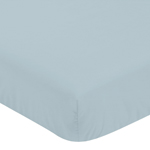 Slate Blue Boy Fitted Crib Sheet Baby or Toddler Bed Nursery by Sweet Jojo Designs - For the Construction Truck Transportation Collection