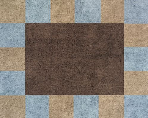 Soho Blue and Brown Accent Floor Rug - Click to enlarge