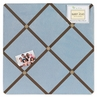 Soho Blue and Brown Fabric Memory/Memo Photo Bulletin Board