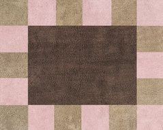 Soho Pink and Brown Accent Floor Rug