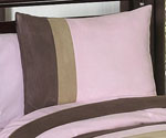 Soho Pink and Brown Pillow Sham