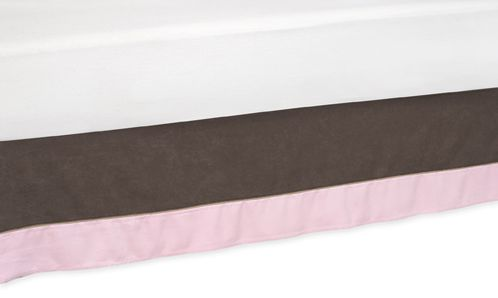 Soho - Pink and Brown Queen Bed Skirt by Sweet Jojo Designs - Click to enlarge