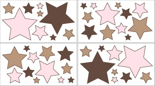 Soho Pink Baby, Childrens and Teens Wall Decal Stickers - Set of 4 Sheets - Click to enlarge