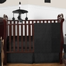 Solid Black Minky Dot Baby Bedding - 11pc Crib Set by Sweet Jojo Designs